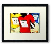 Runners Framed Print
