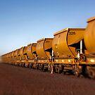 Iron Ore Wagons by Pene Stevens