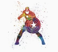 Captain America in watercolor Kids Clothes