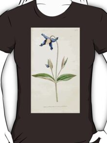 The Botanical magazine, or, Flower garden displayed by William Curtis V1 V2 1787 1789 0142 Clematis Inegrifolia, Entire Leaved Clematis, Virgin's Bower T-Shirt