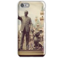 Walt and Mickey statue  iPhone Case/Skin