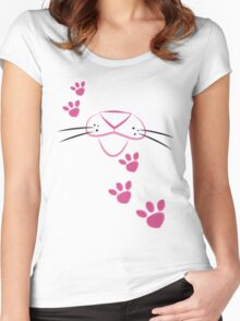 Pink Panther Women's Fitted Scoop T-Shirt