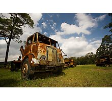 Rusted truck Photographic Print