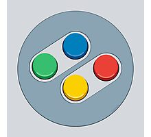SNES Controller Buttons Photographic Print