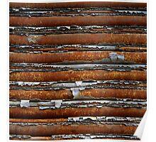 strata - roller door on woolstore Poster