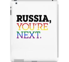 Russia You're Next (White Background) iPad Case/Skin
