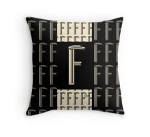 Metropolitan Park 1920s Art  Deco monogram letter initial F Throw Pillow