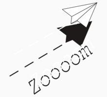 Paper Airplane--Zoooom. Kids Tee