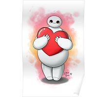 Baymax with heart (without text) Poster