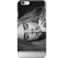 Cara Delevingne (eyes closed) iPhone Case/Skin