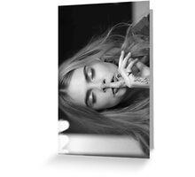 Cara Delevingne (eyes closed) Greeting Card