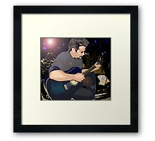 On His Blue Guitar Framed Print