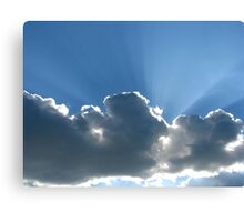 Rays Over Clouds Canvas Print