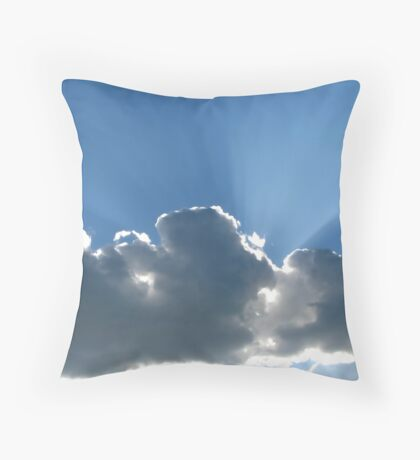 Rays Over Clouds Throw Pillow