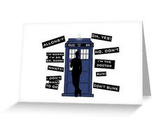 Ten's Quotes. Greeting Card