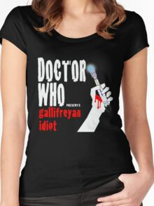 Gallifreyan Idiot. Women's Fitted Scoop T-Shirt