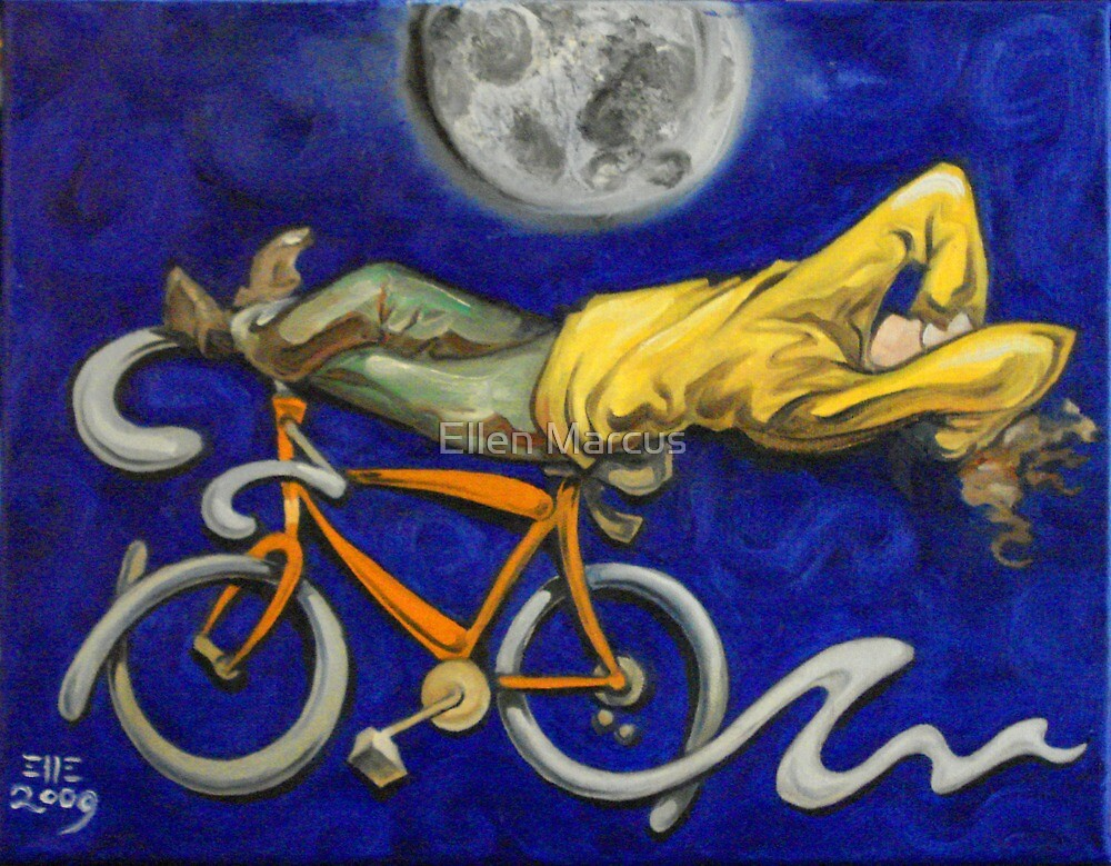 Man on bicycle by Ellen Marcus