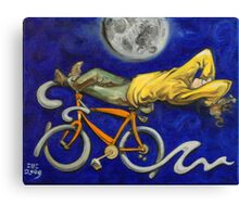 Man on bicycle Canvas Print