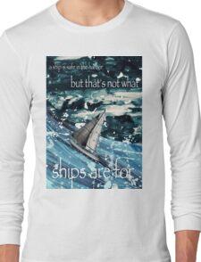 A Ship in Harbor Long Sleeve T-Shirt
