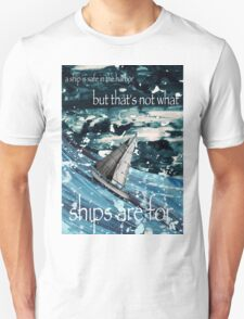A Ship in Harbor Unisex T-Shirt