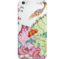 Vintage chinoiserie porcelain Asian crane and flowers antique floral china pattern print iPhone Case/Skin