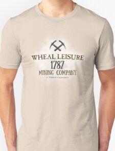 Wheal Leisure Mine 1787 - Poldark Unisex T-Shirt