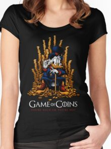 Game of Coins Women's Fitted Scoop T-Shirt