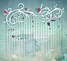 Heart Candy Raincloud by Barbora  Urbankova