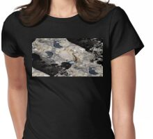 On the beach I Womens Fitted T-Shirt