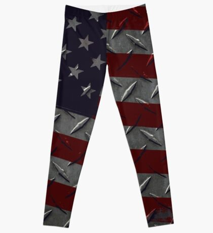 Tough As Steel American Flag Leggings