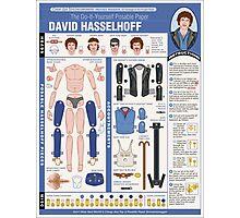 poseable david hasselhoff Photographic Print