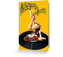 Rockabilly Goddess II Greeting Card