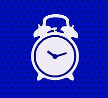 Alarm Clock and Indigo Cat Background by XOOXOO
