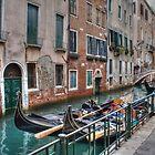 Gondolas In Venice Italy by Mythos57
