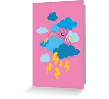 Who Makes the Thunder? - in PINK Greeting Card