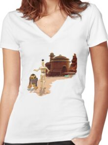 Street Droids Women's Fitted V-Neck T-Shirt