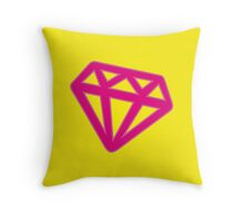 Pink Kitsch Diamond Throw Pillow