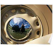 Chrysler Wheel Reflection Poster