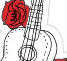 Ukulele & Roses Sticker