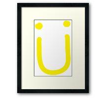 Jack U - Ü Yellow Framed Print