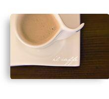 il caffè Canvas Print