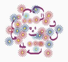 Happy Flower   T Shirt by Shoshonan