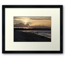 Days end at the beach Framed Print