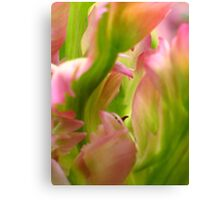 Green Wave  - JUSTART © Canvas Print