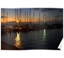 Dawn at the Marina Poster