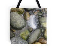 Feather and Rock Tote Bag