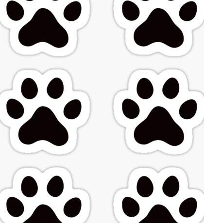 Pawprint stickers Sticker