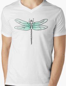 Ombre Dragonfly Mens V-Neck T-Shirt