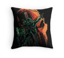Green Vigilance Throw Pillow