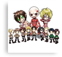 characters of Attack on Titan! chibi Canvas Print